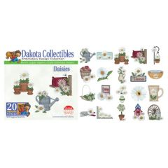 Dakota Collectibles Daisies Embroidery Designs