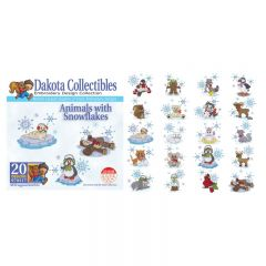 Dakota Collectibles Animals with Snowflakes Embroidery Designs