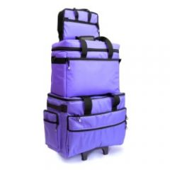 Bluefig Sewing Machine Trolley Set in Purple