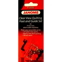 Janome Clearview Quilting Foot and Guide Set 9mm