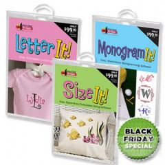 Amazing Designs Letter It! Monogram It! Size It! Combo Pack