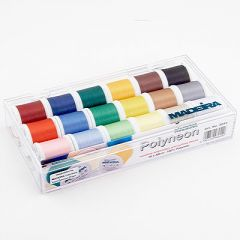 Madeira 18 Spool Polyneon Embroidery and Quilting Thread Set