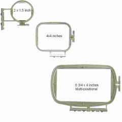 Sew Tech 3in1 Embroidery Hoop Set for Brother SE400, PE500, 6800 and more