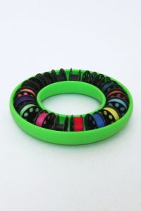 Bobbin Saver Class M Bobbin Storage Ring in Lime Green