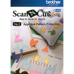 Brother  Scan N Cut Applique Pattern Collection No. 2