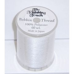The Finishing Touch Embroidery Bobbin Thread 60 wt in White