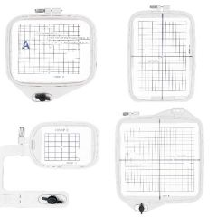 Sew Tech 4 in 1 Embroidery Hoop Set for Janome