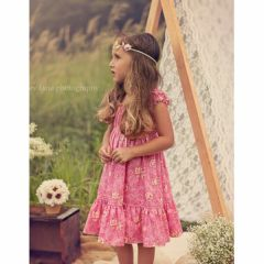 Juvie Moon Designs Girls Twirl Dress Sewing Pattern Zinna