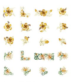 DIME Inspiration Collection Embroidery Designs #11 Fancy Petals