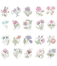 DIME Inspirations Embroidery Designs #16 Shadow Work Elegance