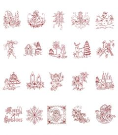 DIME Inspirations Collection Embroidery Designs #19 Vintage Holidays