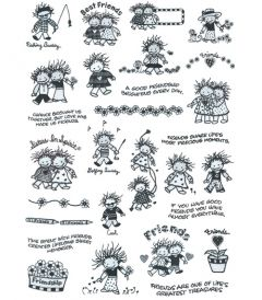 DIME Inspirations Collection Embroidery Designs #21 Children of the Inner Light - Friends