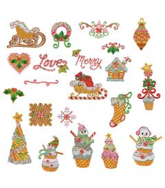 DIME Inspiration Collection Embroidery Designs #22 Christmas Confections