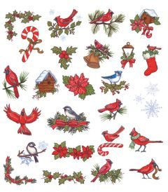 DIME Inspiration Collection Embroidery Designs #23 Christmas Cardinals
