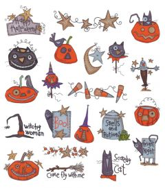 DIME Inspiration Collection Embroidery Designs #31 Kookie Spookie Fun