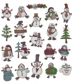 DIME Inspiration Collection Embroidery Designs #32 Snow Pals