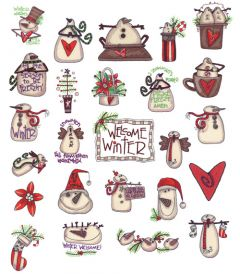 DIME Inspirations Embroidery Designs #33 Winter Welcome