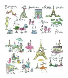 DIME Inspiration Collection Embroidery Designs #39 Lu-lu in Paris