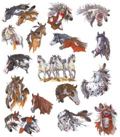 DIME Inspiration Collection Embroidery Designs #41 Lynn Bean Horses