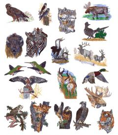 DIME Inspiration Collection Embroidery Designs #42 Lynn Bean Wildlife