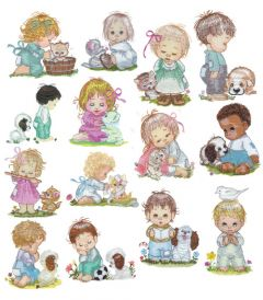 DIME Inspiration Collection Embroidery Designs #46 Morehead Bay Kids and Friends