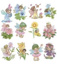 DIME Inspiration Collection Embroidery Designs #47 Morehead Blossom Tots
