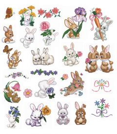 DIME Inspiration Collection Embroidery Designs #48 Morehead Bountiful Bunnies