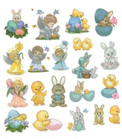 DIME Inspiration Collection Embroidery Designs #51 Morehead Easter