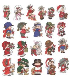 DIME Inspiration Collection Embroidery Designs #64 Morehead Undercover Kids Christmas