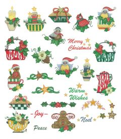 DIME Inspiration Collection Embroidery Designs #68 Susan Schmitz Enamel Christmas