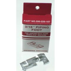 Janome Serger 3/16 Inch Piping Foot