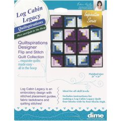 DIME Designs in Machine Embroidery #6 Log Cabin Legacy Quiltspirations Software