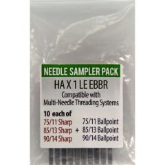 Triumph Commercial Embroidery Machine Needles EBBR Sampler Pack