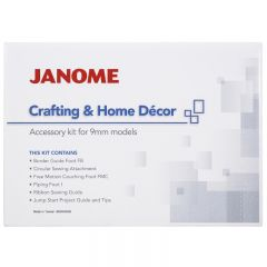 Janome Crafting and Decor & Home Decor Accessory Kit for 9mm Machines