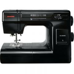 Janome HD-3000 Sewing Machine in Limited Edition Black with Bonus Kit Customer return