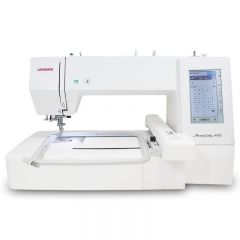 Janome Memory Craft 400E Embroidery Machine with Exclusive Bonus Package