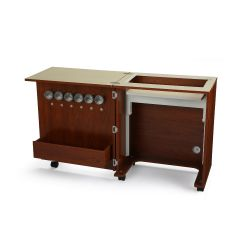 Arrow Judy Model 105 Sewing Machine Cabinet In Teak