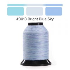 Grace Finesse Variegated Quilting Thread Bright Blue Sky #3013