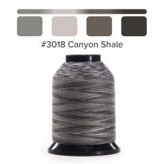 Grace Finesse Variegated Quilting Thread Canyon Shale #3018