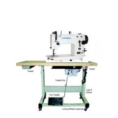 Consew CN2053R-1 Single Needle Zig-Zag Lockstitch Machine with Assembled Table and Servo Motor