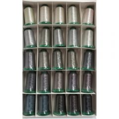 Exquisite 25 Shades of Gray Embroidery Thread Set