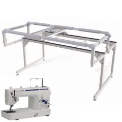 Brother DZ1500F Midarm Quilting Machine with Grace Q-Zone Hoop Quilting Frame Combo