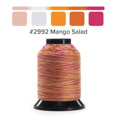 Grace Finesse Variegated Quilting Thread Mango Salad #2992