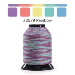 Grace Finesse Variegated Quilting Thread Rainbow #2979