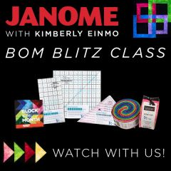 Janome Kimberly Einmo Special Block of the Month Blitz Package