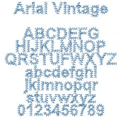 Dime Designs in Machine Embroidery Font Collection 5 Vintage Fonts