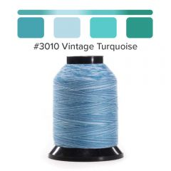 Grace Finesse Variegated Quilting Thread Vintage Turquoise #3010