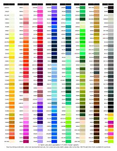 Exquisite Thread - Mini King 1,000M Color Chart