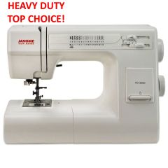 Janome HD3000 Heavy Duty Sewing Machine with Bonus Value Kit