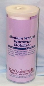 Ken's Sewing Tearaway Medium Embroidery Stabilizer